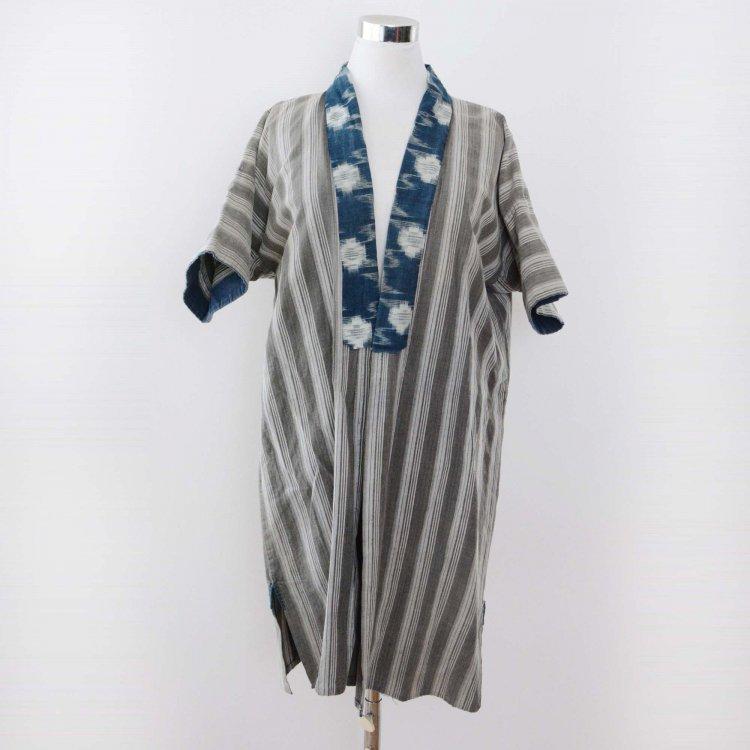 野良着 藍染 絣 薄墨黒 縞模様 ジャパンヴィンテージ 30年代 | Noragi Jacket Aizome Indigo Blue Kasuri Japan Vintage 30s