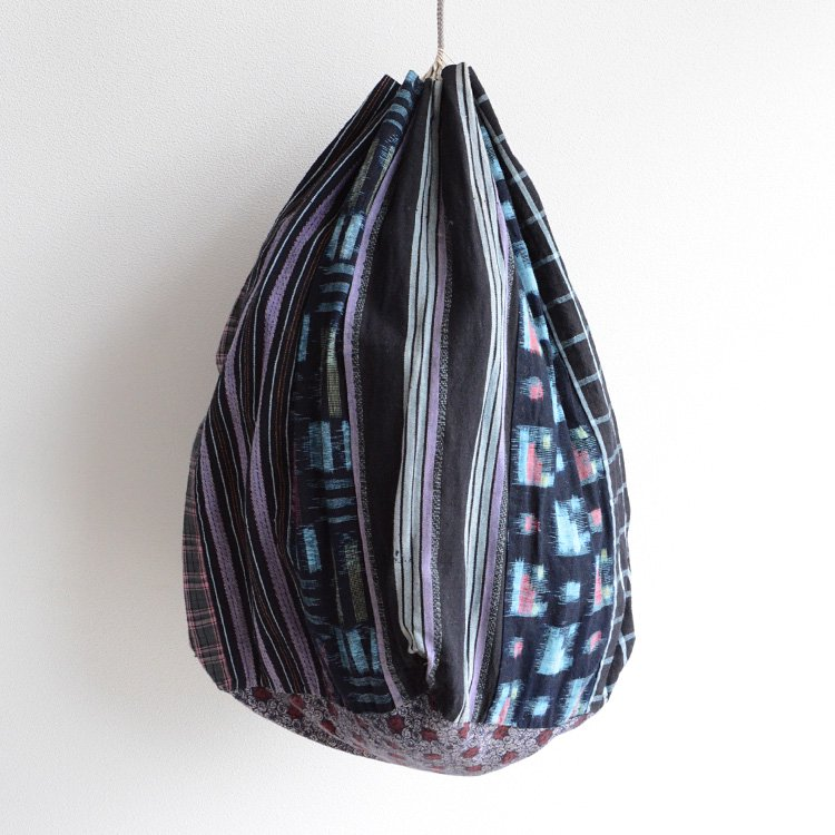 Japanese Fabric Bag Kasuri Crazy Patchwork Vintage | 米袋 巾着 絣 継ぎ接ぎ バッグ ジャパンヴィンテージ