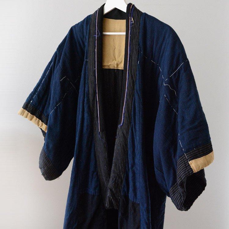 Hanten Padded Indigo Kimono Coat Japan Vintage 30〜40s   丹前 綿入れ 着物 藍染 ジャパンヴィンテージ 30〜40年代