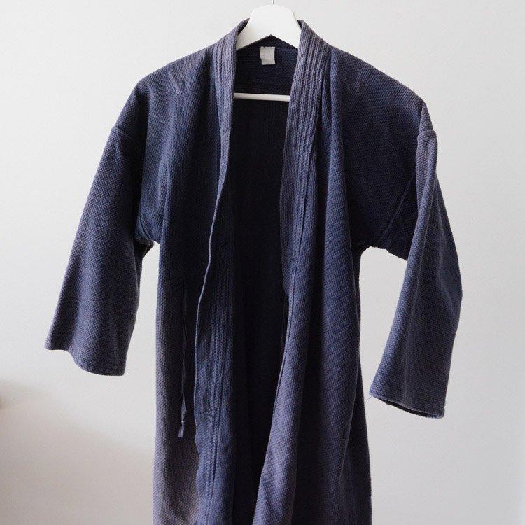 剣道着 刺し子 ジャパンヴィンテージ 茄子紺 昭和 平成 | Kendo Gi Sashiko Jacket Faded Color Cotton Japan Vintage