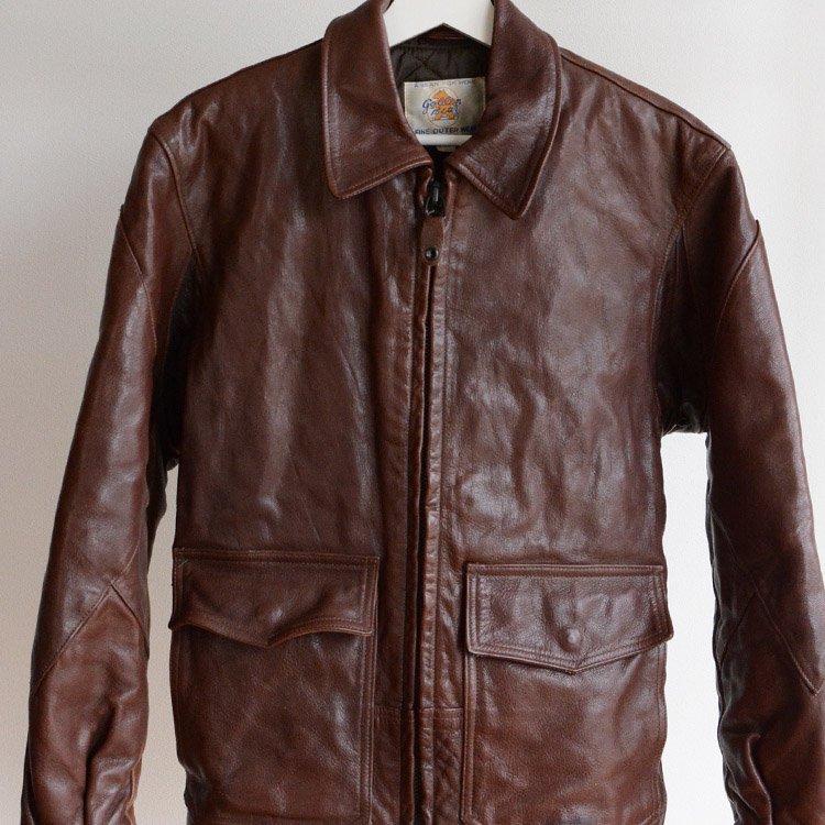 ゴールデンベア レザージャケット クレイジーパターン ヴィンテージ 80年代 アメリカ製   Golden Bear Vintage Leather Jacket 80s Made in USA