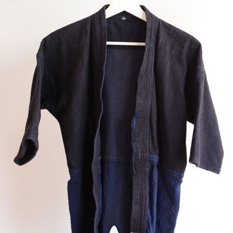 剣道着 刺し子 腰下ダイヤ織 ジャパンヴィンテージ 木綿   Kendo Jacket Sashiko Fabric Japan Vintage Cotton