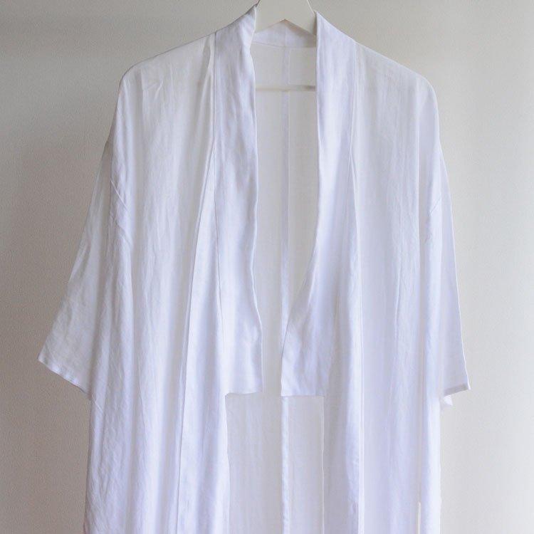 長襦袢 着物 ジャパンヴィンテージ ボタニカル柄 木綿 昭和 | Juban Kimono Japan Vintage Botanical Pattern Cotton White