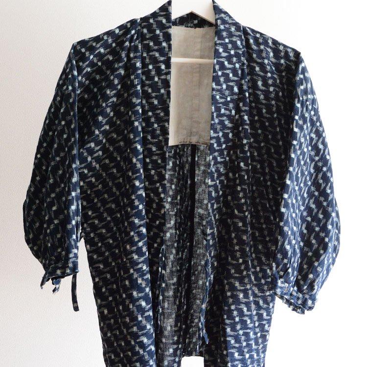 野良着 藍染 絣 ジャパンヴィンテージ 上っ張り 着物 40〜50年代 | Noragi Jacket Japan Vintage Indigo Kimono Kasuri Cotton