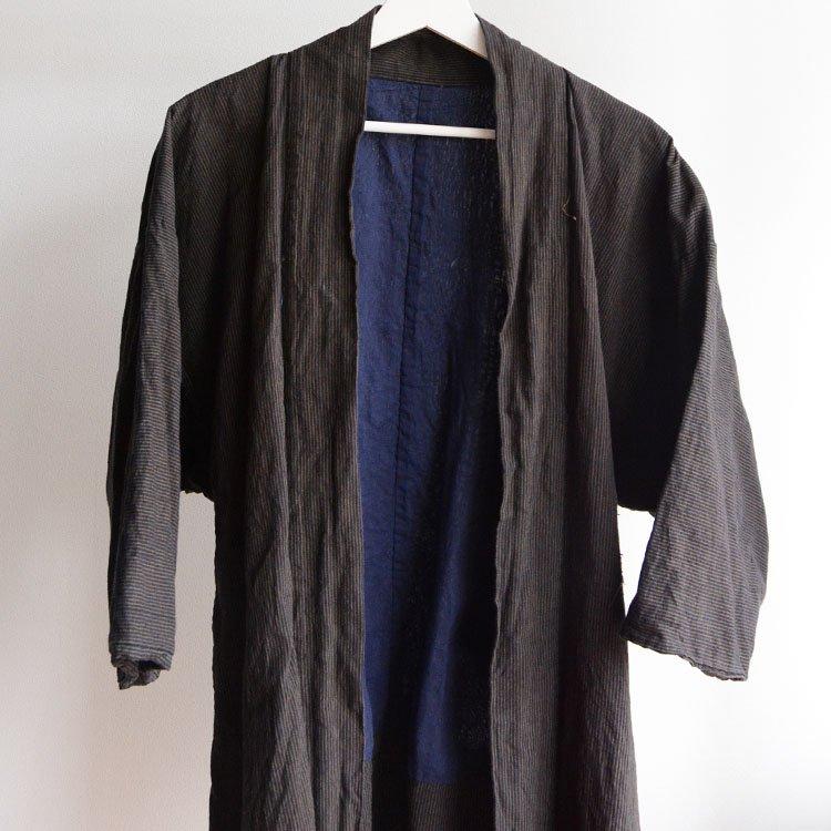 野良着 古着 羽織 着物 木綿 縞模様 ジャパンヴィンテージ | Noragi Jacket Haori Kimono Japanese Vintage Cotton Stripe