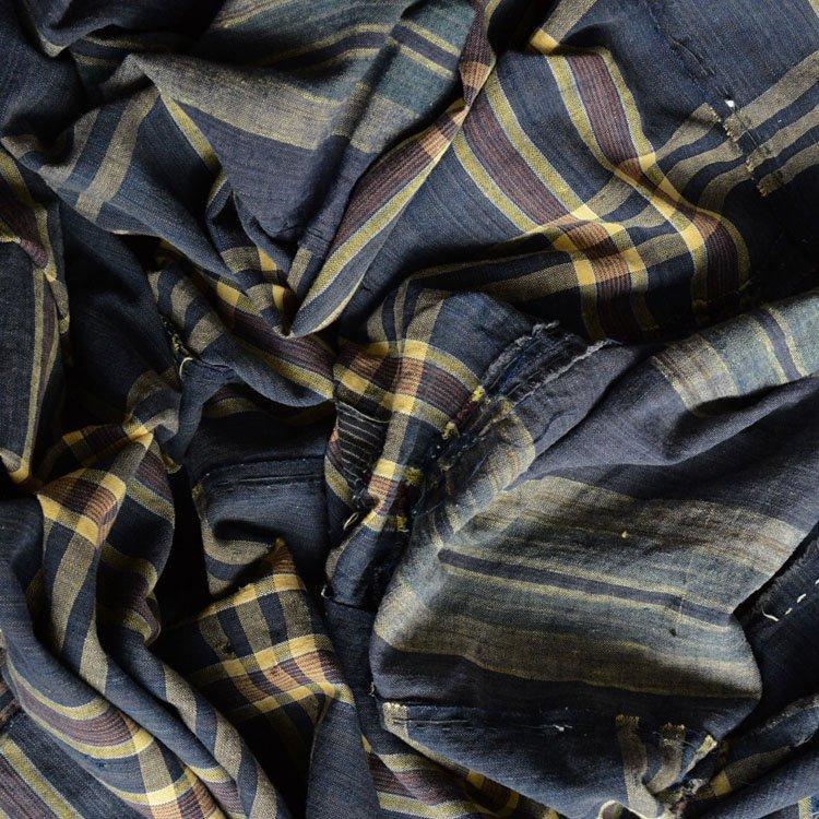 古布 藍染糸 木綿 布団皮 襤褸 ジャパンヴィンテージ ファブリック | Boro Fabric Japan Vintage Textiles Futon Cover 30s
