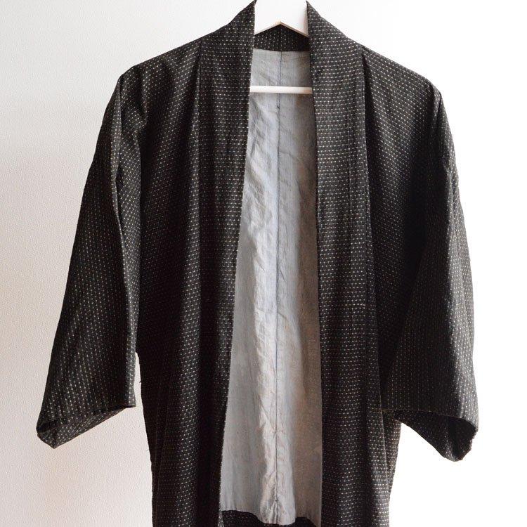 羽織 男 着物 書生〜蚊絣 ジャパンヴィンテージ 昭和 | Haori Jacket Japan Vintage Kimono Men Kasuri Fabric