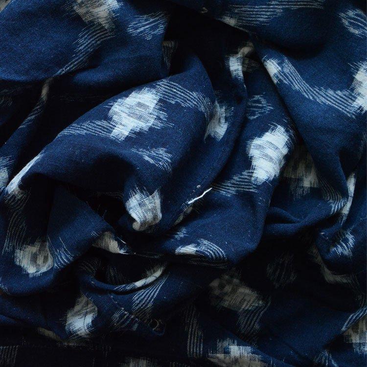 絣 生地 古布 藍染 木綿 ジャパンヴィンテージ ファブリック 昭和初期   Indigo Fabric Japanese Vintage Kasuri Cotton Textile
