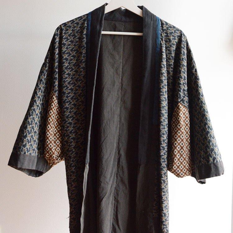 着物 クレイジーパターン 縞模様 ジャパンヴィンテージ 昭和初期〜中期 | Kimono Jacket Japanese Vintage Crazy Pattern Stripe