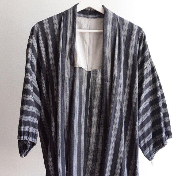 野良着 古着 木綿 着物 縞模様 ジャパンヴィンテージ 昭和 | Noragi Jacket Japan Vintage Kimono Cotton Stripe