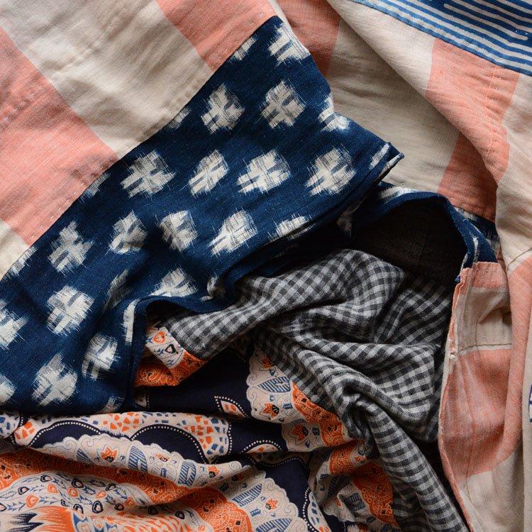 古布 木綿 クレイジーパターン つぎはぎ ジャパンヴィンテージ ファブリック   Japanese Fabric Cotton Crazy Pattern Vintage
