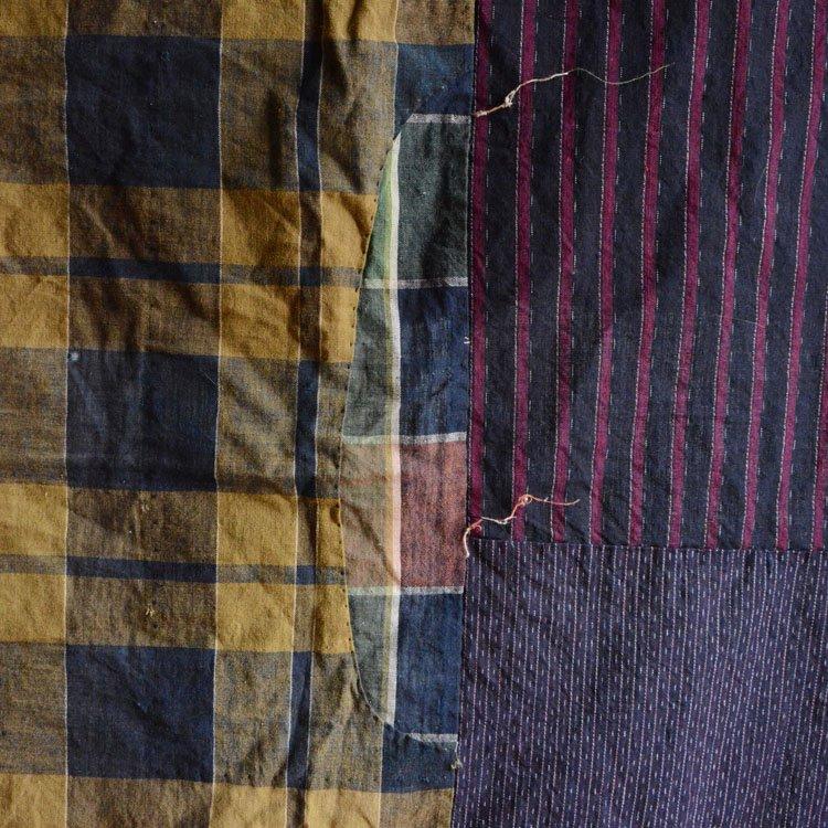 古布 木綿 襤褸 つぎはぎ クレイジーパターン ジャパンヴィンテージ 昭和初期   Japanese Fabric Cotton Vintage Boro Crazy Patchwork
