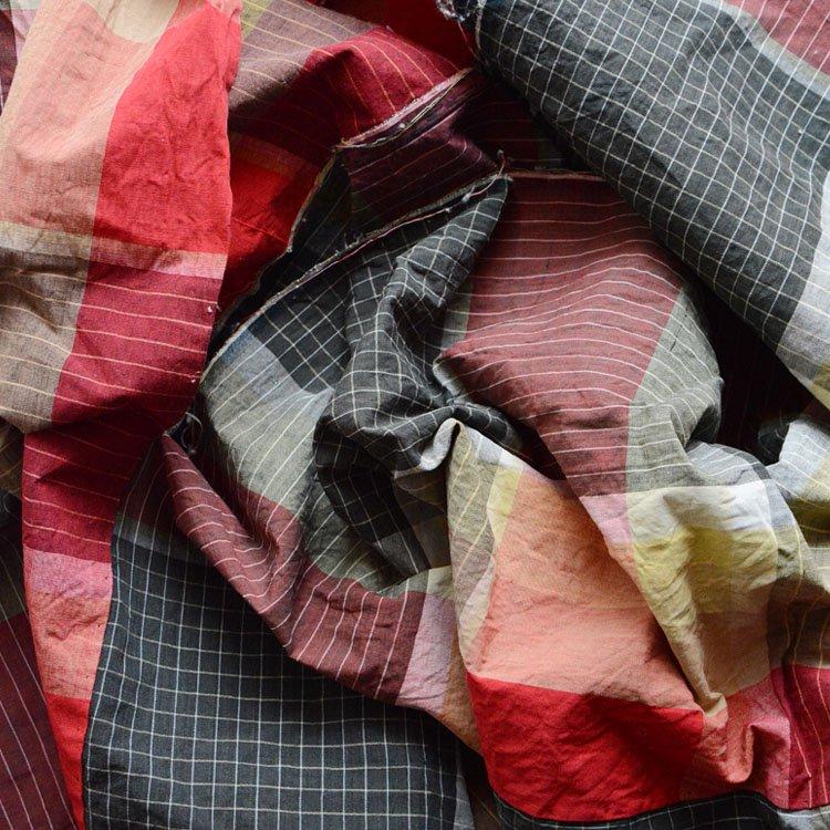 古布 木綿 布団皮 ジャパンヴィンテージ ファブリック テキスタイル 昭和   Japanese Fabric Cotton Vintage Futon Cover