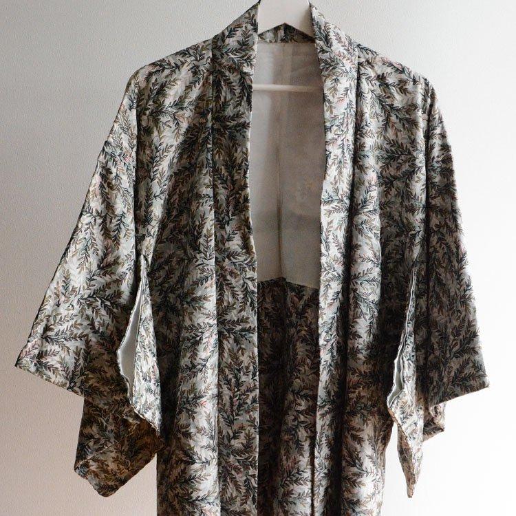 羽織 着物 ジャパンヴィンテージ 草木柄 60〜70年代 | Haori Women Japanese Vintage Kimono Jacket