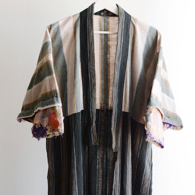 長襦袢 着物 クレイジーパターン フランネル ジャパンヴィンテージ | Juban Kimono Robe Crazy Pattern Japan Vintage Flannel