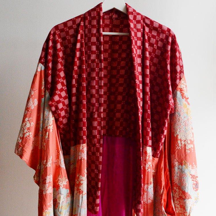 長襦袢 クレイジーパターン ジャパンヴィンテージ アンティーク着物 昭和 | Juban Kimono Robe Japanese Vintage Crazy Pattern