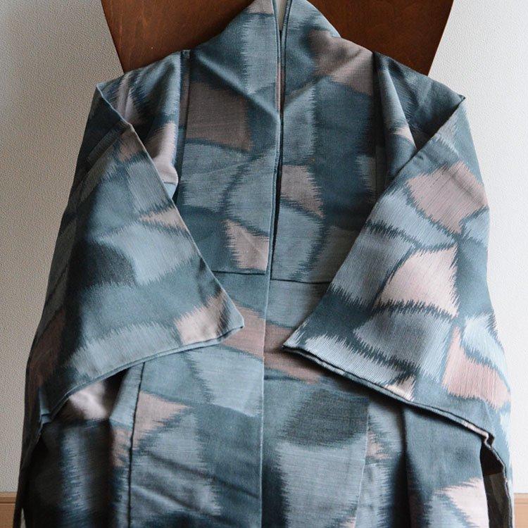 <img class='new_mark_img1' src='https://img.shop-pro.jp/img/new/icons8.gif' style='border:none;display:inline;margin:0px;padding:0px;width:auto;' />アンティーク着物 広衿 モザイク〜タイルアート風 ジャパンヴィンテージ | Kimono Japanese Vintage Long 60s
