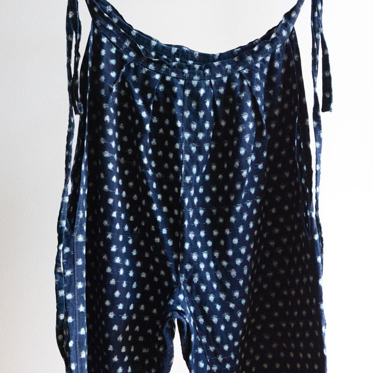 もんぺ 藍染 雪ん子絣 着物 パンツ ジャパンヴィンテージ 30〜50年代 | Monpe Pants Indigo Kasuri Fabric Cotton Japan Vintage