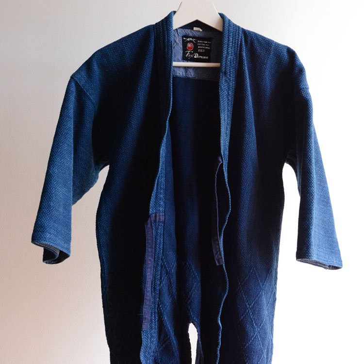 剣道着 藍染 刺し子 木綿 ジャパンヴィンテージ 昭和 | Kendo Jacket Indigo Sashiko Fabric Japan Vintage Cotton