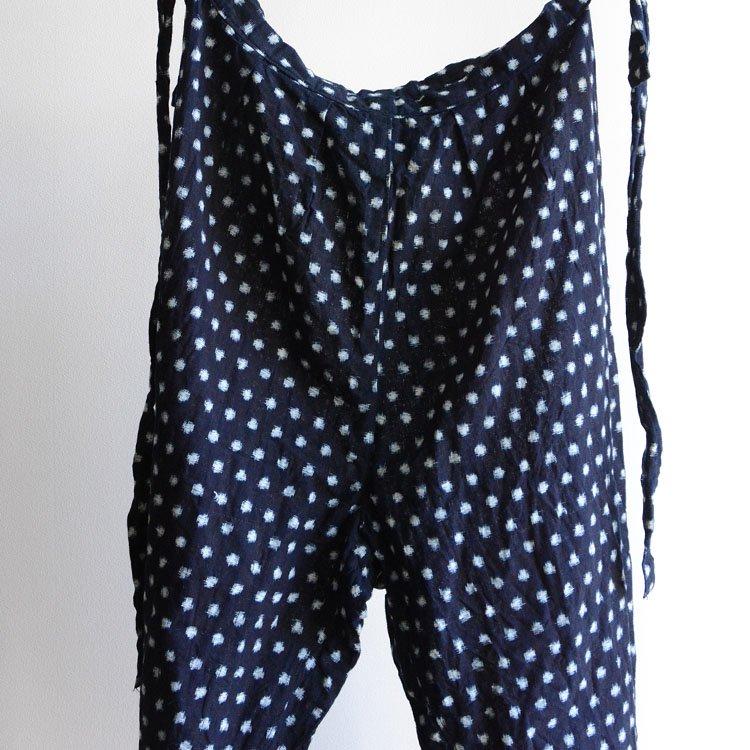 もんぺ 藍染 絣 雪ん子 着物 パンツ ジャパンヴィンテージ 30〜50年代 | Monpe Pants Indigo Blue Kasuri Fabric Cotton Japan Vintage