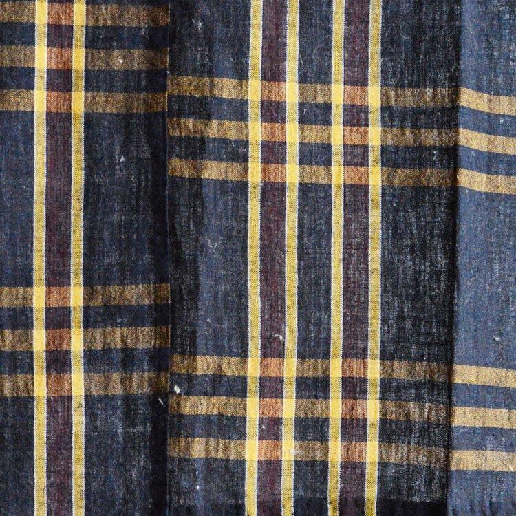 古布 藍染 布団皮 木綿 ジャパンヴィンテージ ファブリック テキスタイル | Japanese Fabric Vintage Indigo Aizome Cotton Futongawa