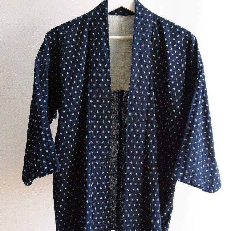 野良着 藍染 絣 雪ん子 ジャパンヴィンテージ 着物 大正 昭和   Noragi Jacket Indigo Kimono Japan Vintage Kasuri Fabric Cotton
