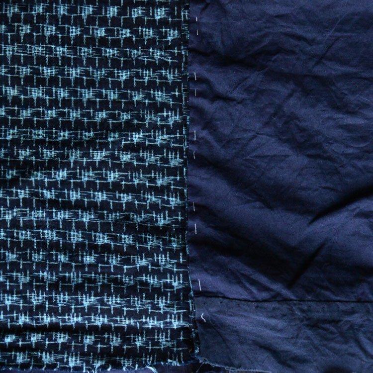 <img class='new_mark_img1' src='https://img.shop-pro.jp/img/new/icons8.gif' style='border:none;display:inline;margin:0px;padding:0px;width:auto;' />古布 絣 藍染 木綿 ジャパンヴィンテージ ファブリック テキスタイル 30〜40年代 | Kasuri Fabric Indigo Japan Vintage Scraps Cotton