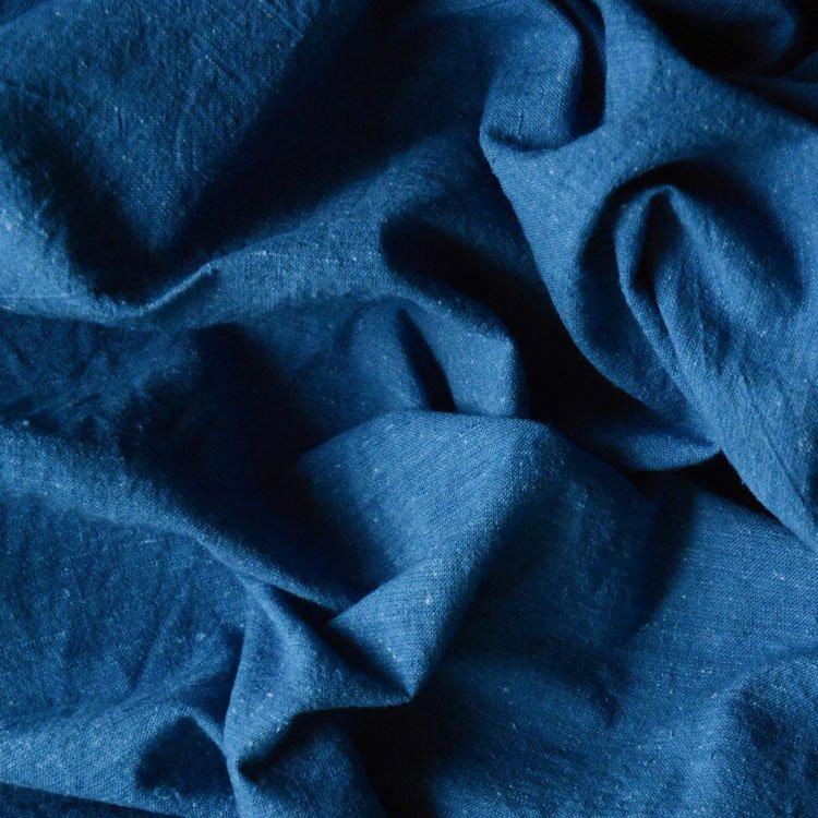古布 藍染 花浅葱 木綿 ジャパンヴィンテージ ファブリック 無地 戦後期 | Indigo Fabric Japan Vintage Plain Old Cloth