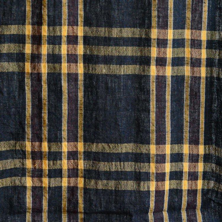布団皮 ほどき 古布 藍染 木綿 ジャパンヴィンテージ ファブリック テキスタイル 2 | Japanese Fabric Vintage Indigo Cotton Futon Cover