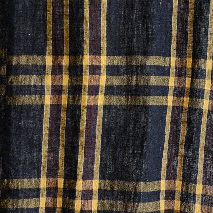 布団皮 古布 藍染 木綿 ほどき ジャパンヴィンテージ ファブリック テキスタイル 4 | Japanese Fabric Vintage Indigo Check Cotton Futon