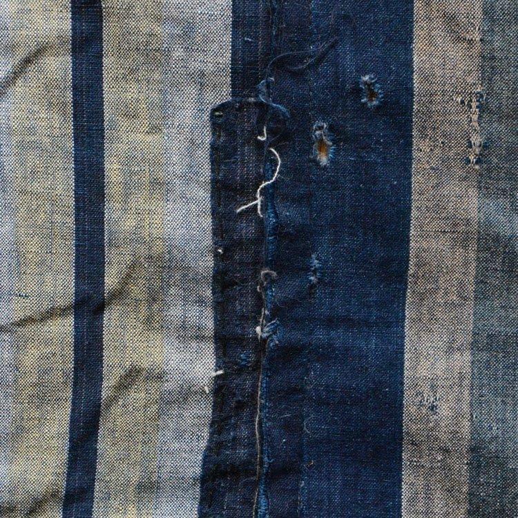 古布 藍染 つぎはぎ クレイジーパターン 襤褸 布団皮 ジャパンヴィンテージ 2 | Indigo Fabric Japan Vintage Boro Patchwork Crazy Pattern