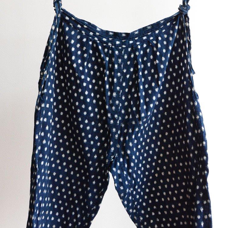 <img class='new_mark_img1' src='https://img.shop-pro.jp/img/new/icons8.gif' style='border:none;display:inline;margin:0px;padding:0px;width:auto;' />もんぺ 野良着 藍染 絣 雪ん子 着物 パンツ ジャパンヴィンテージ 30〜50年代 | Monpe Noragi Pants Indigo Kasuri Fabric Japan Vintage
