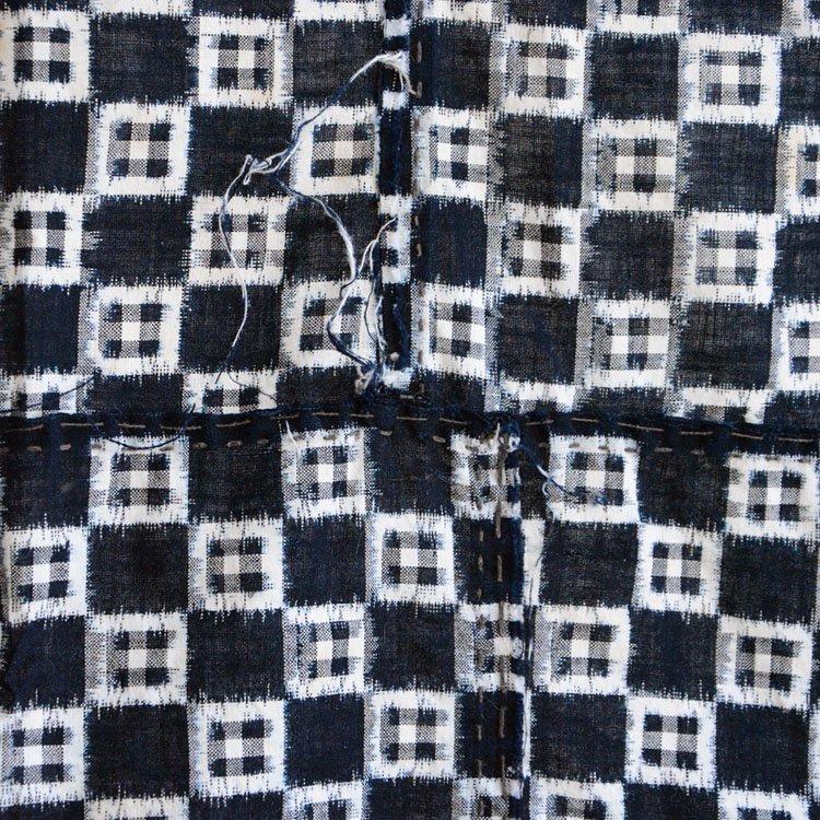 古布 絣 藍染 生地 ジャパンヴィンテージ ファブリック 大正 昭和   Indigo Fabric Japan Vintage Kasuri Ikat Cotton Old Cloth Scraps