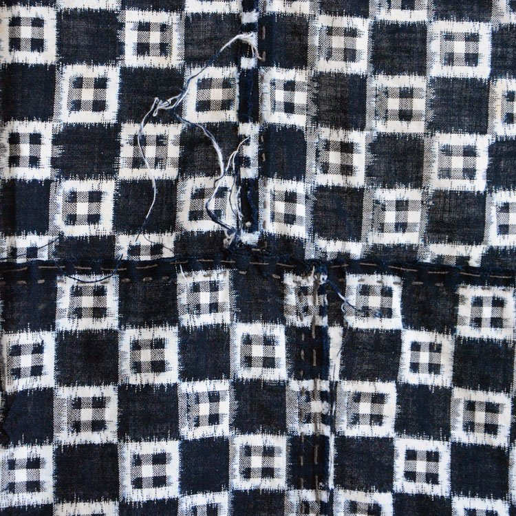 古布 絣 藍染 生地 ジャパンヴィンテージ ファブリック 大正 昭和 | Indigo Fabric Japan Vintage Kasuri Ikat Cotton Old Cloth Scraps