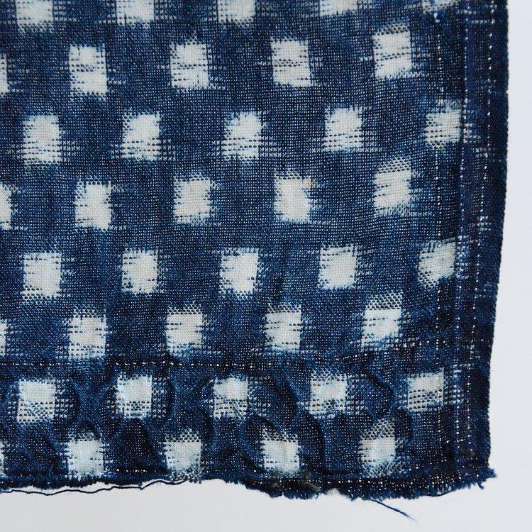 雪ん子 絣 生地 古布 藍染 ジャパンヴィンテージ ファブリック 大正 昭和 | Kasuri Fabric Indigo Japan Vintage Ikat Cotton Cloth Scraps
