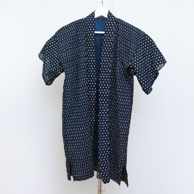 野良着 藍染 書生絣 雪ん子 クレイジーパターン ジャパンヴィンテージ 大正 昭和 | Noragi Jacket Kasuri Fabric Indigo Kimono Japan Vintage