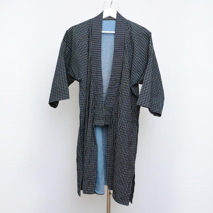 野良着 古着 木綿 着物 格子 ジャパンヴィンテージ 昭和初期 | Noragi Jacket Men Japanese Vintage Kimono Cotton