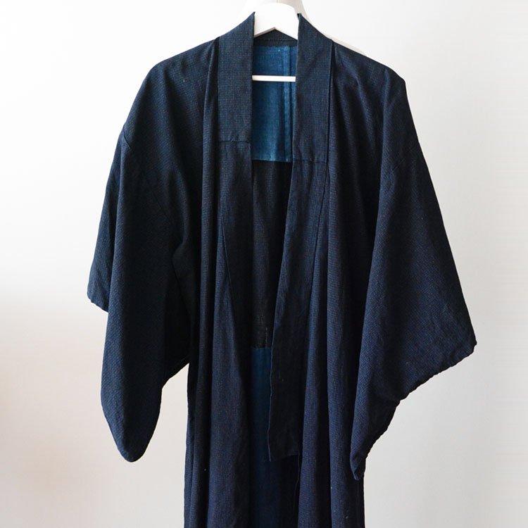 着物 藍染 木綿 ジャパンヴィンテージ 明治 大正 アンティーク | Indigo Kimono Robe Japan Vintage Cotton Long