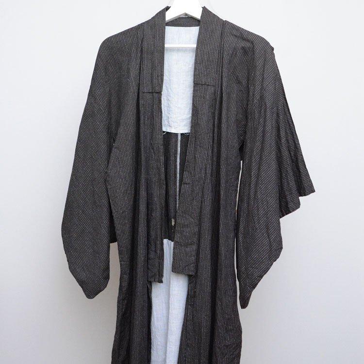 着物 木綿 縞模様 ジャパンヴィンテージ 昭和中期 アンティーク | Kimono Japanese Vintage Cotton Stripe 50〜60s