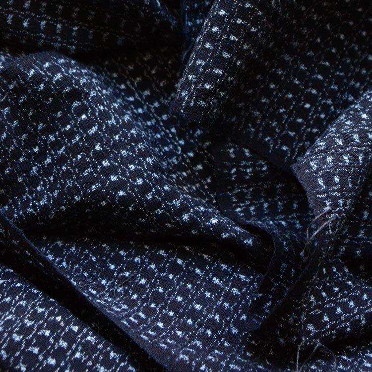<img class='new_mark_img1' src='https://img.shop-pro.jp/img/new/icons8.gif' style='border:none;display:inline;margin:0px;padding:0px;width:auto;' />古布 藍染 書生絣 木綿 ジャパンヴィンテージ ファブリック テキスタイル 大正 昭和 2 | Kasuri Fabric Japan Vintage Indigo Cotton Scraps