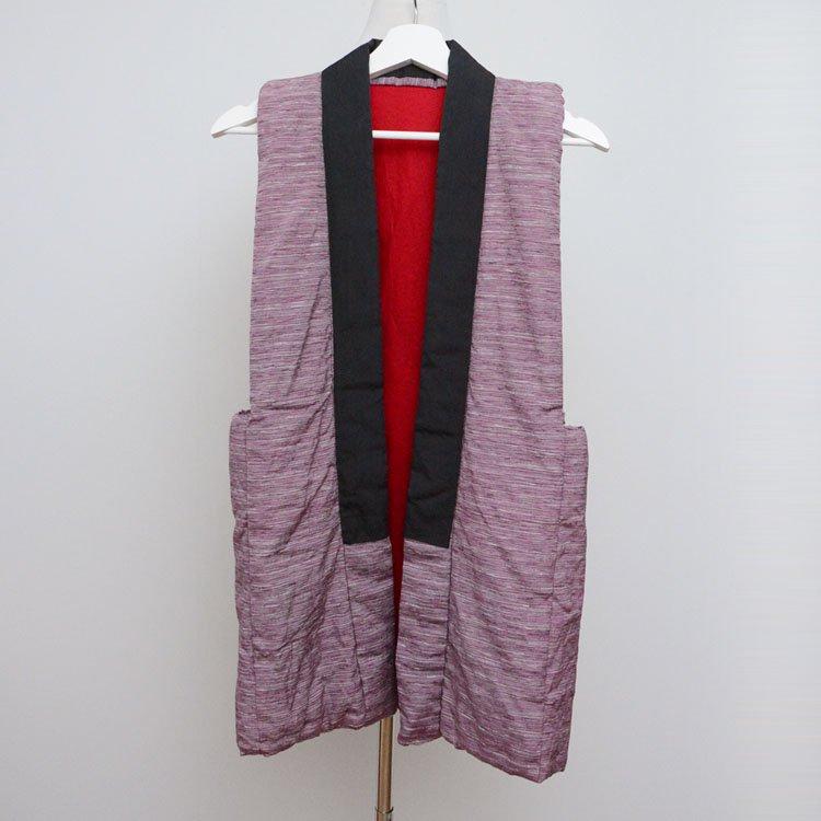 <img class='new_mark_img1' src='https://img.shop-pro.jp/img/new/icons8.gif' style='border:none;display:inline;margin:0px;padding:0px;width:auto;' />袖なしはんてん 着物 ベスト ジャパンヴィンテージ 昭和 | Hanten Vest Japanese Vintage Kimono Sleeveless