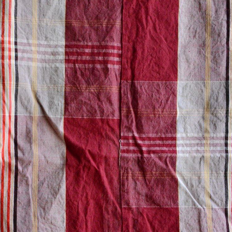 古布 木綿 布団皮 ジャパンヴィンテージ ファブリック テキスタイル | Japanese Fabric Vintage Cotton Futon Cover Textile
