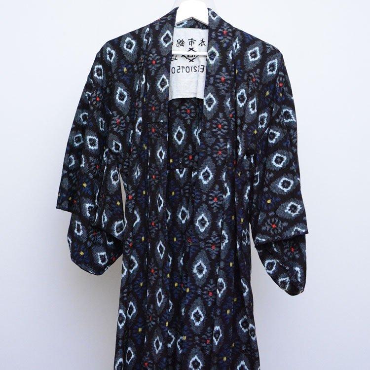 着物 絣 手ぬぐい ジャパンヴィンテージ 昭和中期 アンティーク | Kimono Japanese Vintage Kasuri Fabric Tenugui 50〜60s