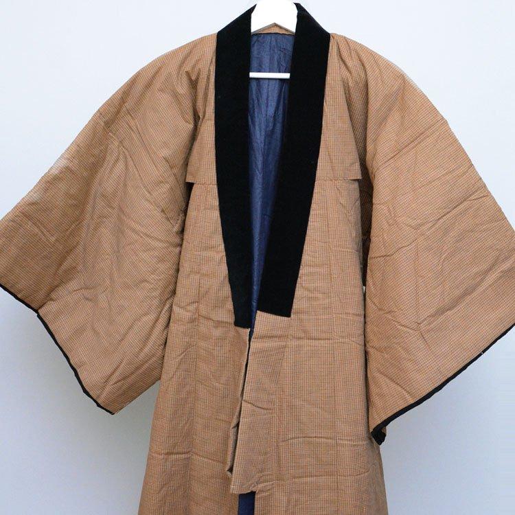 丹前 掻巻 綿入れ半纏 ジャパンヴィンテージ 着物 昭和中期 日焼け | Hanten Jacket Padded Japanese Vintage Kimono Tanzen