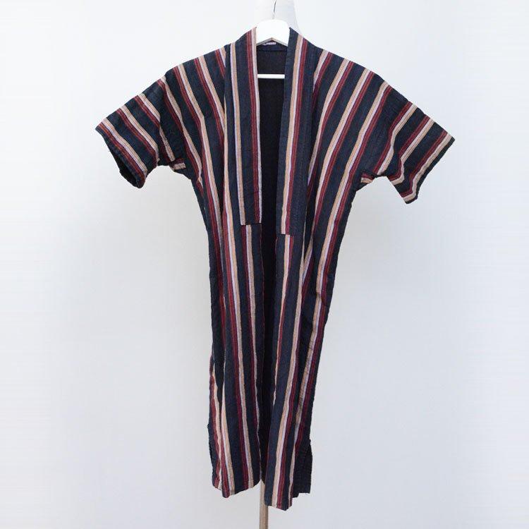 野良着 古着 ジャパンヴィンテージ 木綿 着物 縞模様 大正 昭和 | Noragi Jacket Vintage Kimono Japan Cotton Stripe