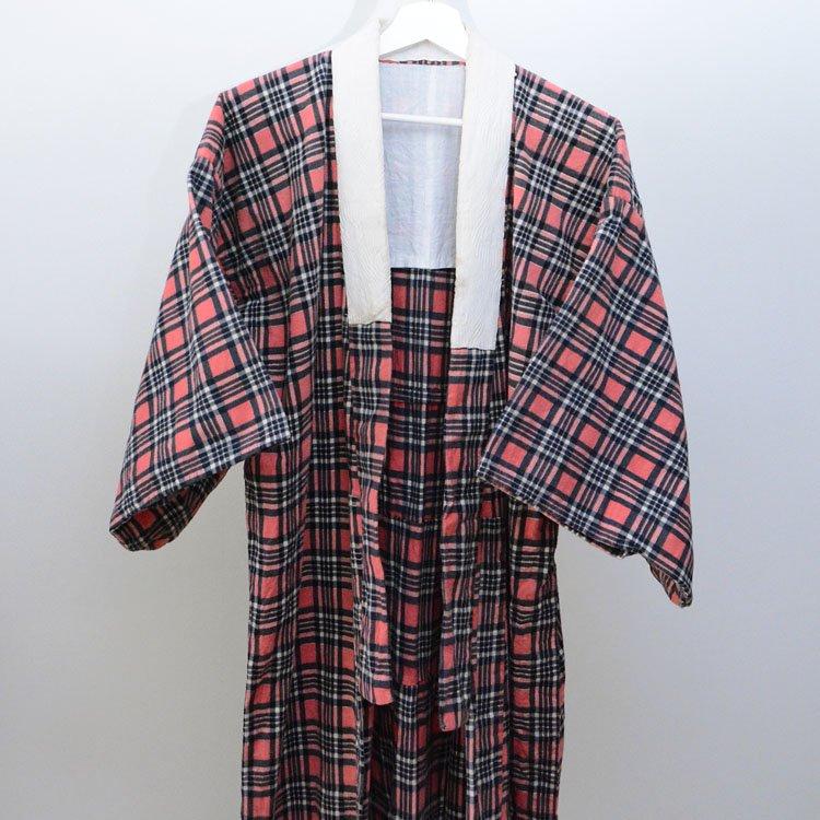 長襦袢 着物 ジャパンヴィンテージ フランネル コットン 昭和中期 | Juban Women Kimono Robe Japanese Vintage Flannel Cotton