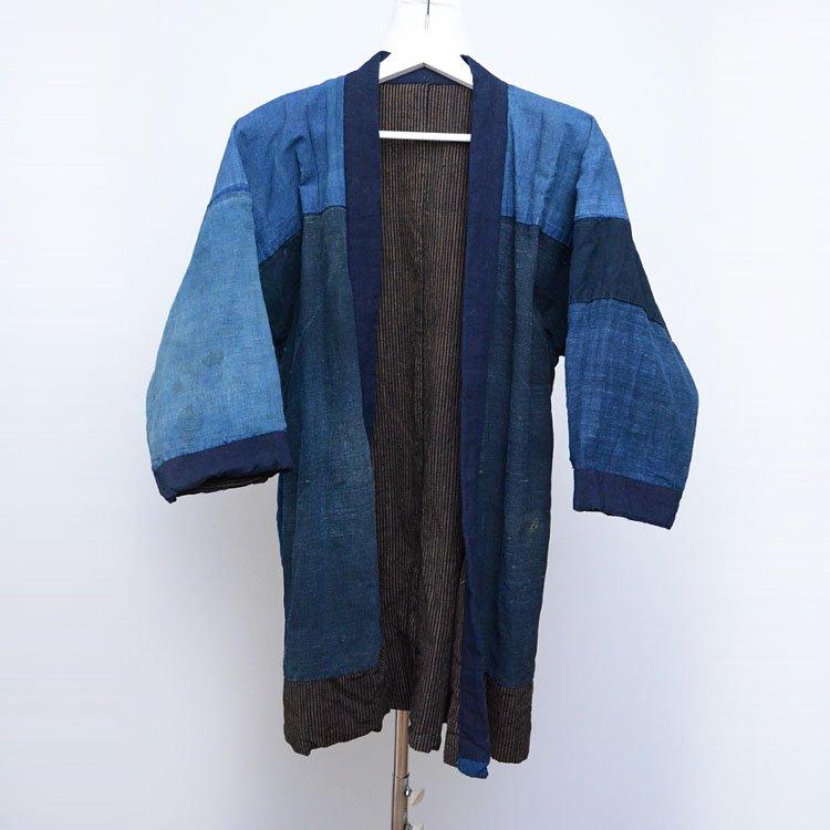 野良着 藍染 クレイジーパターン ジャパンヴィンテージ 大正 木綿 着物 | Noragi Jacket Men Indigo Kimono Crazy Pattern Japan Vintage