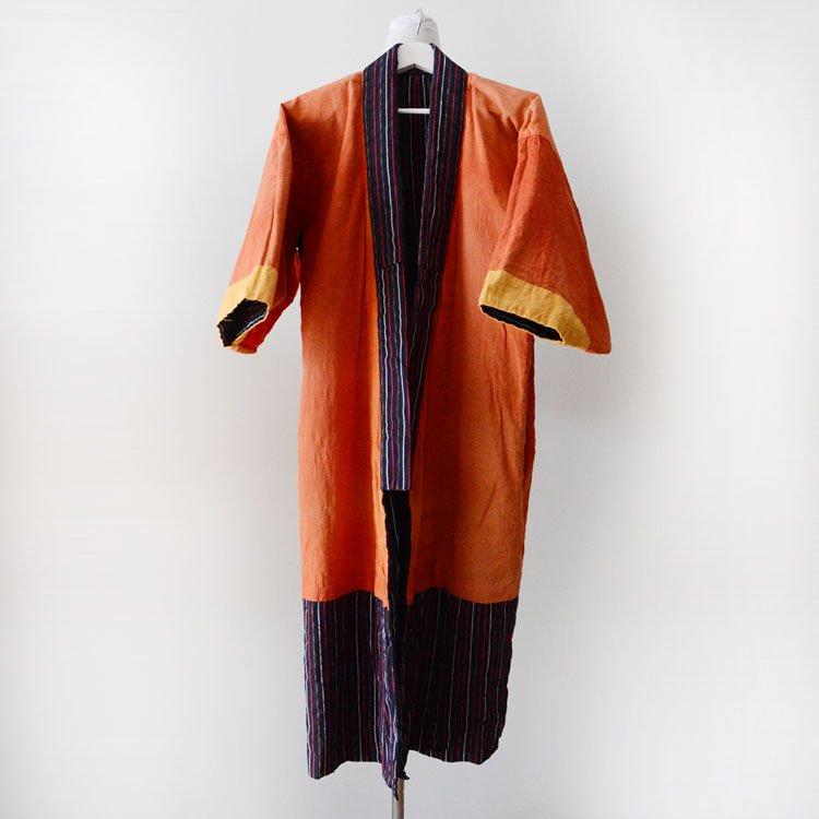着物 ジャパンヴィンテージ 木綿 縞模様 昭和中期 | Kimono Japanese Vintage Robe Long Cotton Stripe