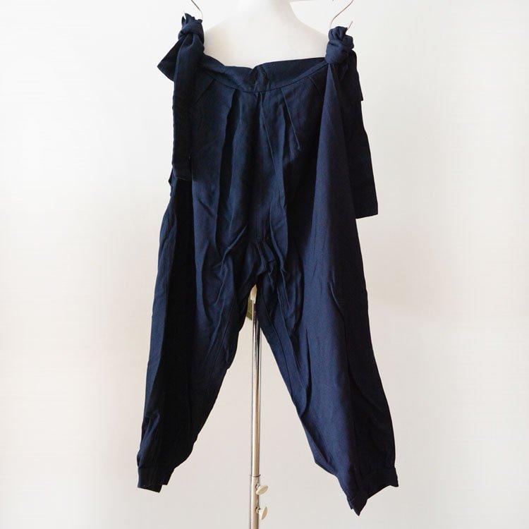 もんぺ パンツ ジャパンヴィンテージ 着物 無地 紺 昭和中期 | Monpe Pants Japanese Vintage Kimono Mid Showa