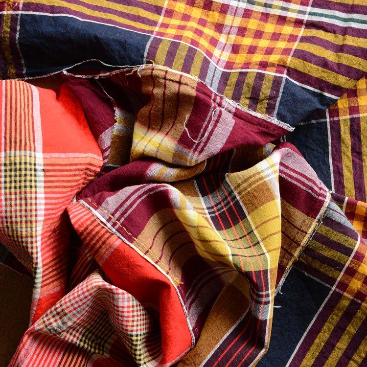 古布 木綿 つぎはぎ クレイジーパターン ジャパンヴィンテージ ファブリック | Japanese Fabric Cotton Vintage Crazy Patchwork Textile